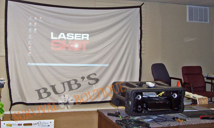 LaserShot set up and ready for your practice session or group event.