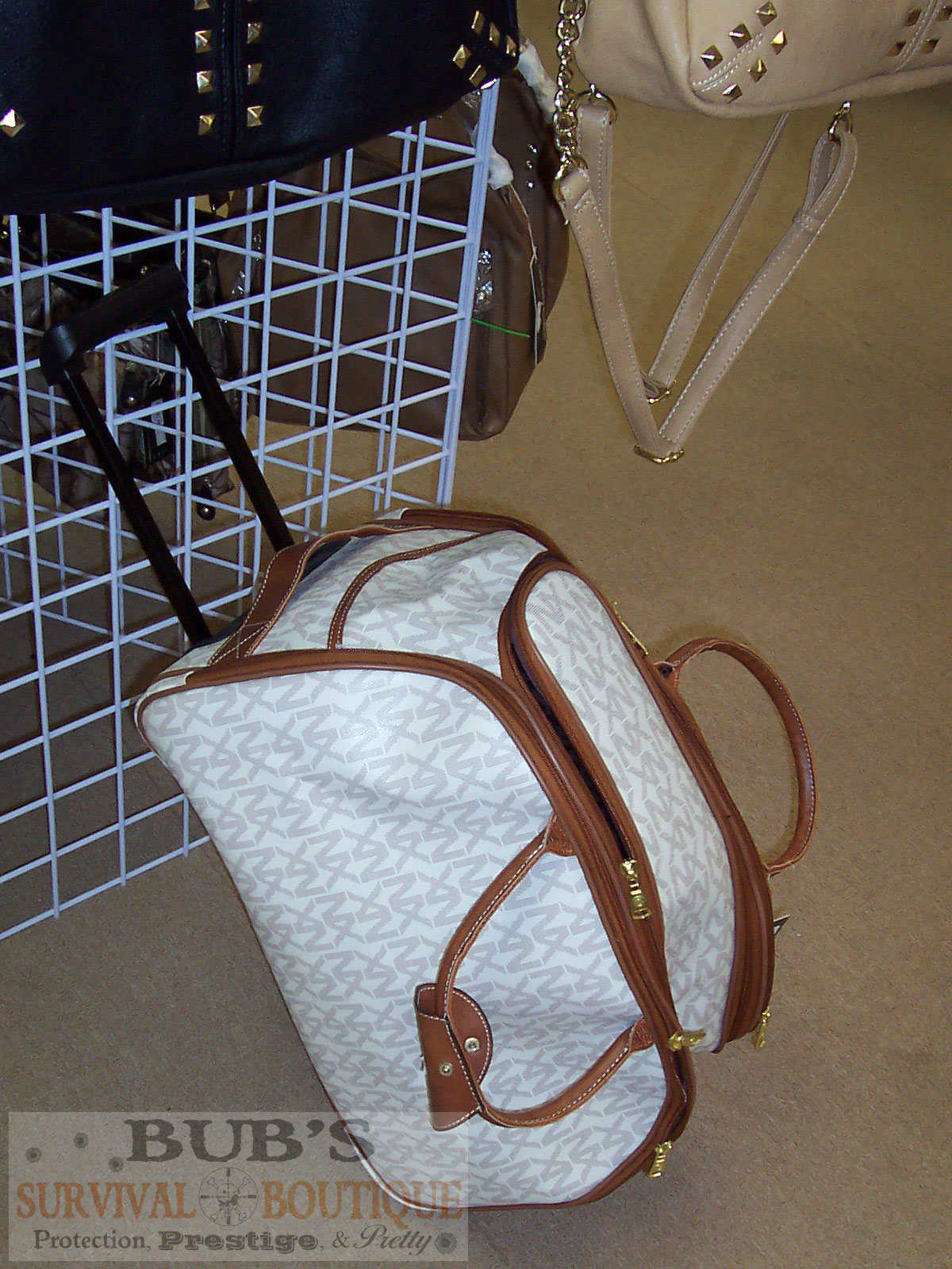 Conceal carry tote with wheels and handle for your gun owners on the go.